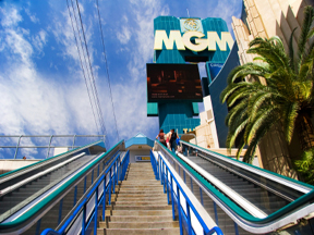Casino escalators at The MGM