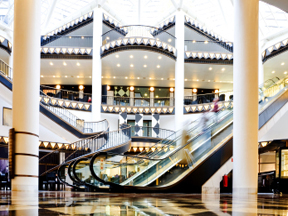 Automated Escalator Messaging Systems For Stores And Malls